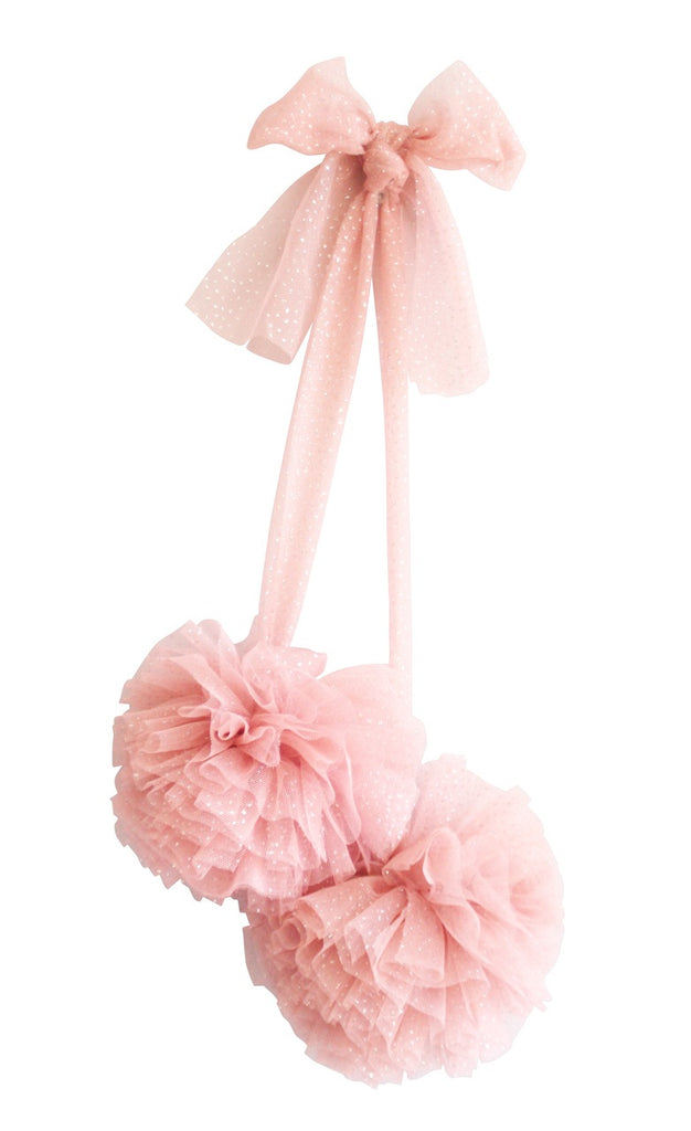 Alimrose hanging Tulle Pom Pom set of 2- Sparkle Blush