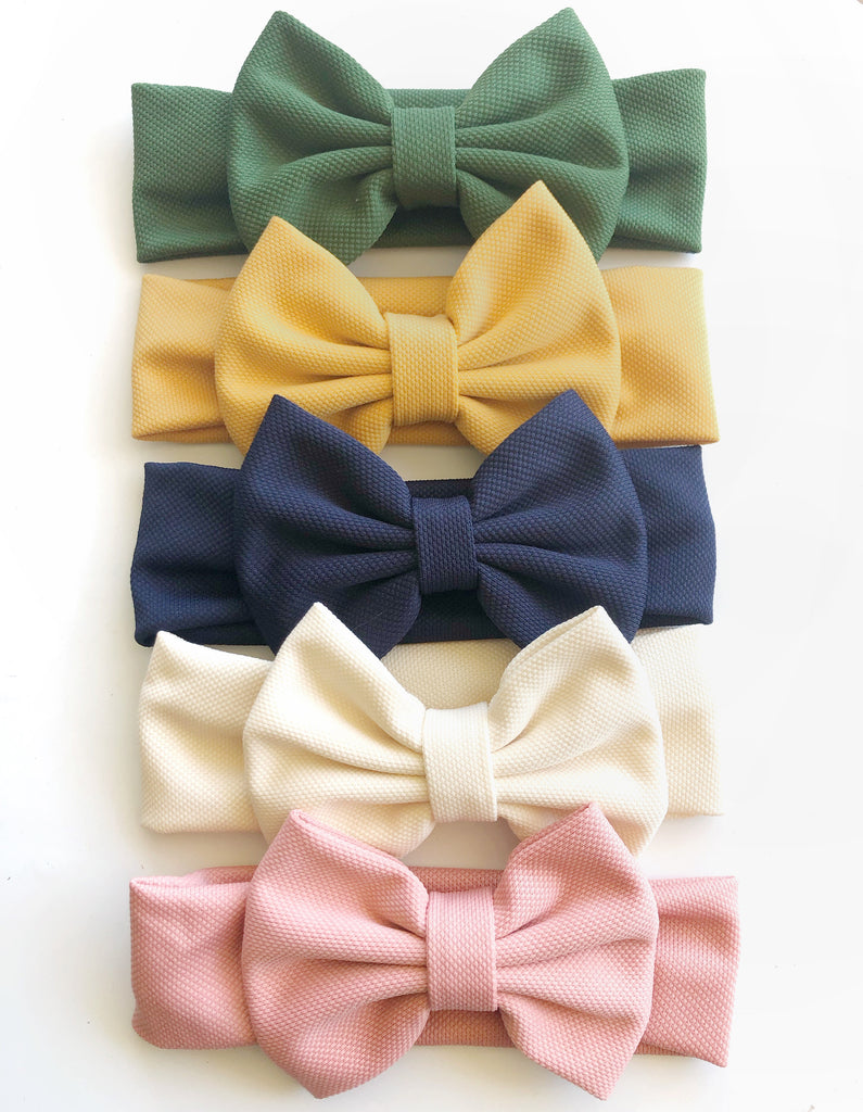 Lottie big bow headbands- 6 colours to choose from!