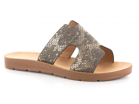 Corkys Bogalusa Gunmetal Slip On Sandals