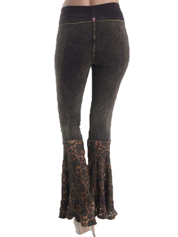 Brown Lace Bottom Bell Bottoms