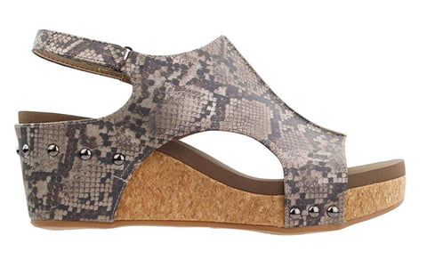Carley Taupe Snake