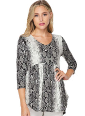 Charcoal Rattle  Snake Plus Size Tunic