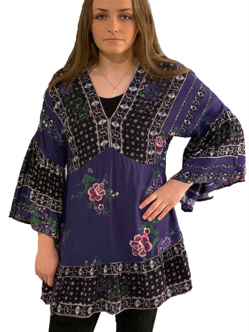 Cobalt Multi V-Neck Tunic