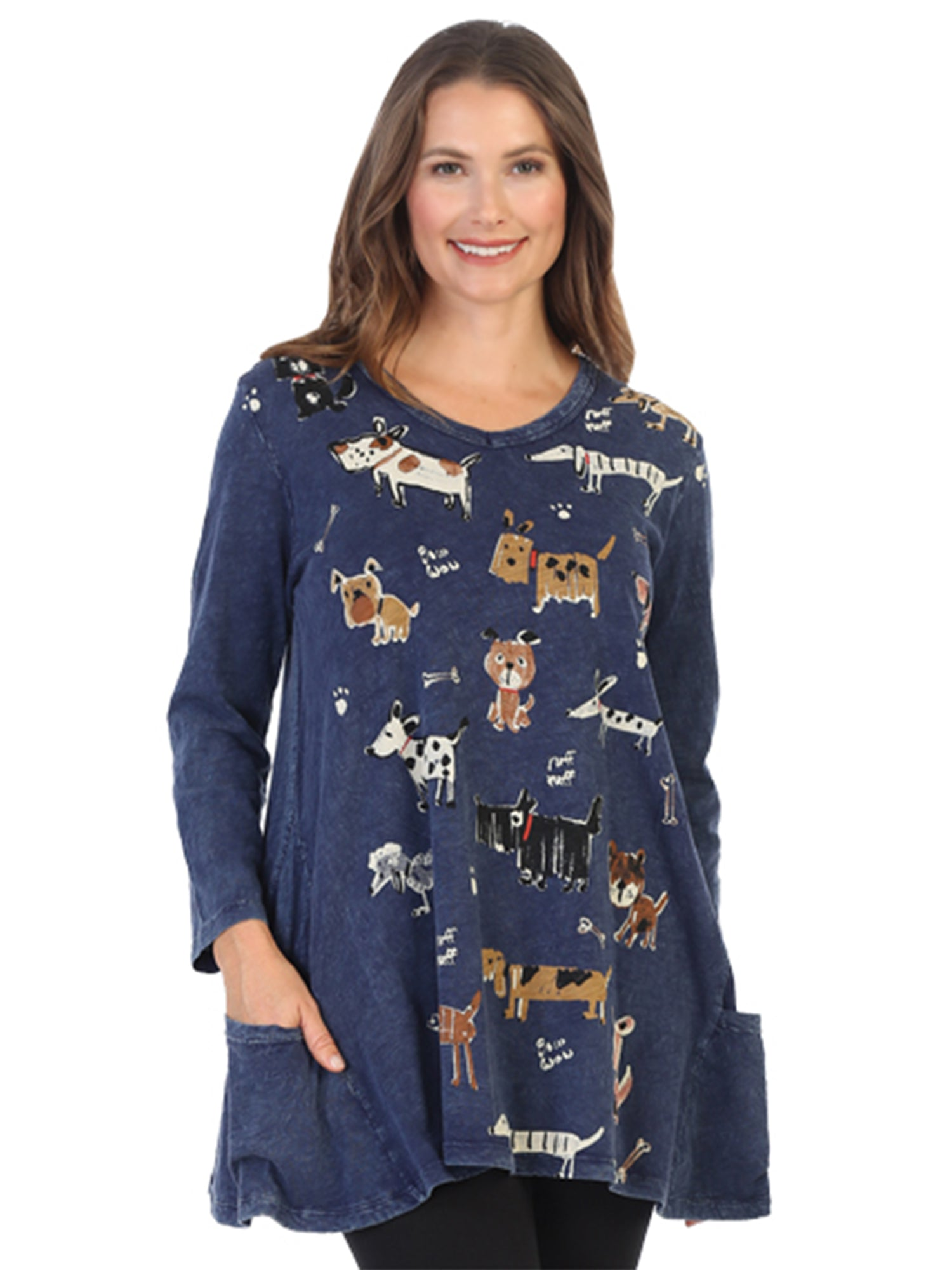Critters Abstract Doggie Mineral Wash Tunic
