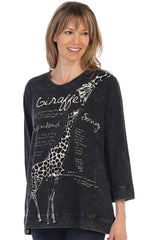 Giraffe Song French Terry Tunic