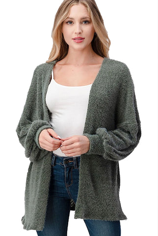 Moss Poet Sleeve Cardigan Sweater