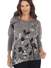 Playtime Grey Mineral Wash Tunic top