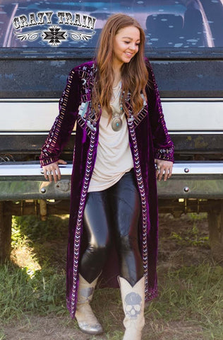 Purple Velvet McEntire Duster