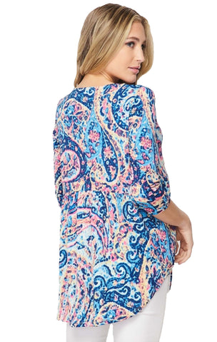 Royal Paisley Empire Waist Tunic