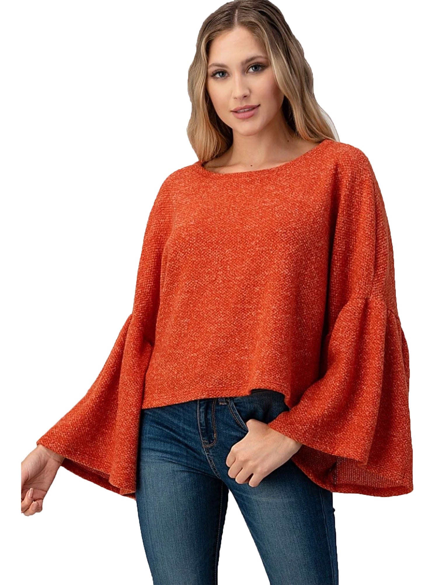 Rust Cropped Sweater