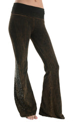 Rusty Brown Rhinestone bell bottoms