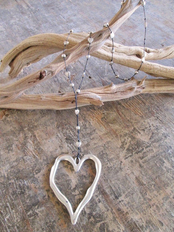 Silver Alloy Heart Necklace