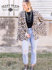 Sparkle Leopard Cambridge Cardigan