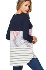 Triple Threat Color block Misses Tunic