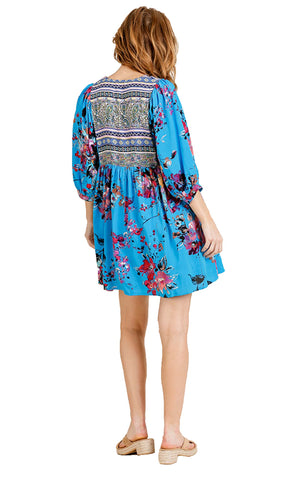 Cyan Bohemian Tunic or Dress