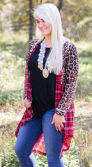 Pine Ridge Plaid and Leopard Duster