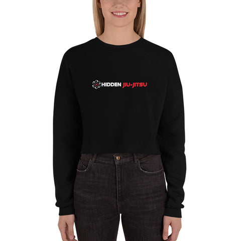 12 Women's Crop Sweatshirt White Logo