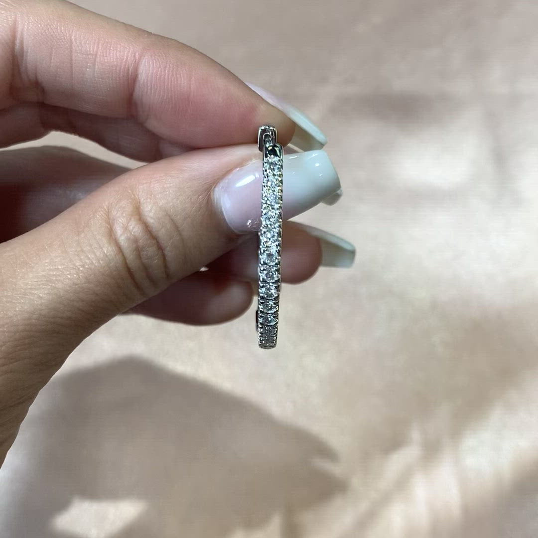 35mm Diamond Hoops 14k