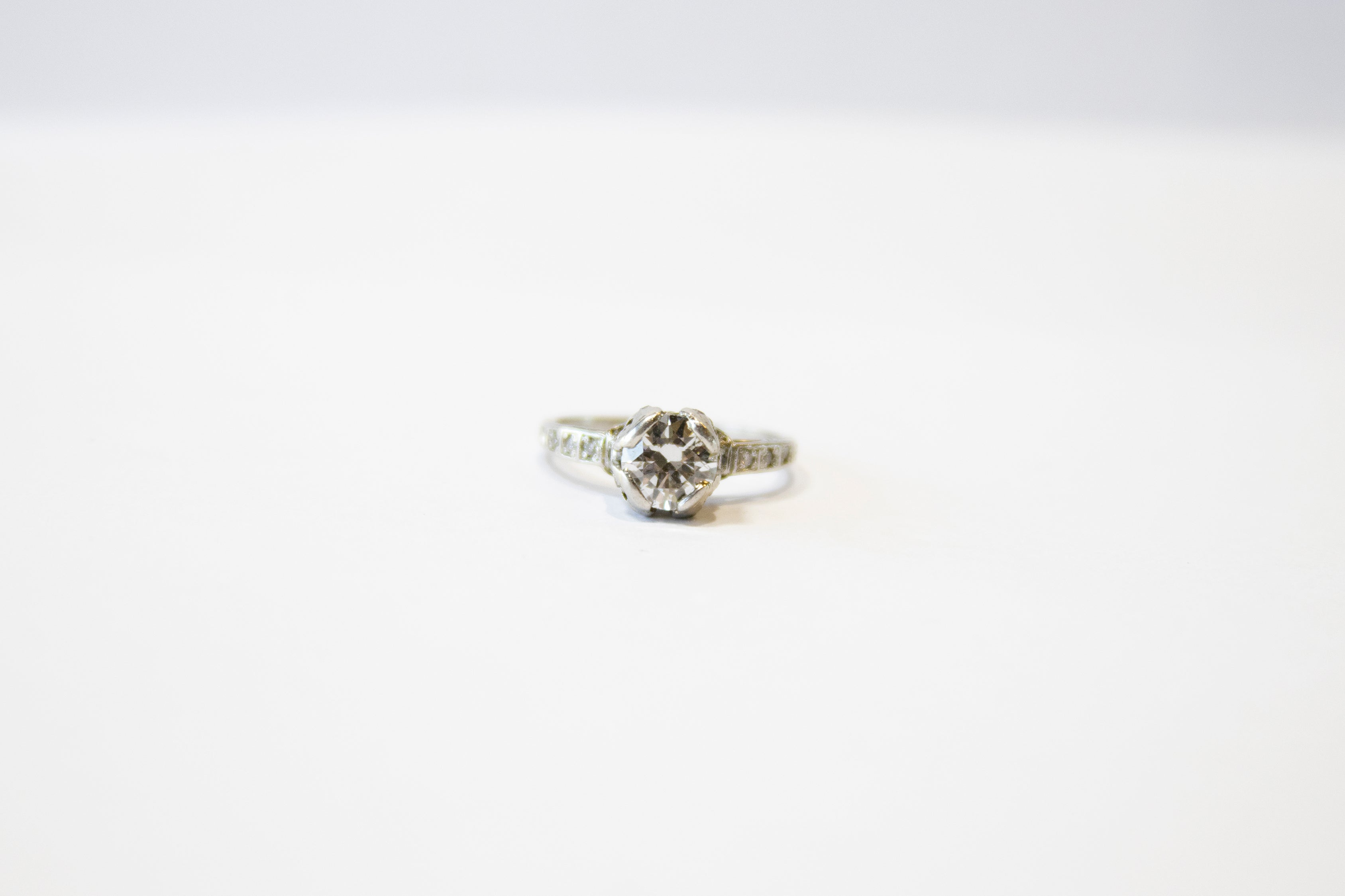 Antique Estate Ring Platinum