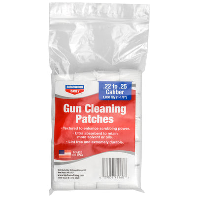 "B-c Patches 1-1-8"".22-.25cal 1000pk"