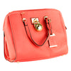 Bulldog Satchel Style Purse Coral