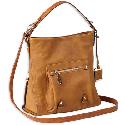 Bulldog Hobo Anna Purse Cognac