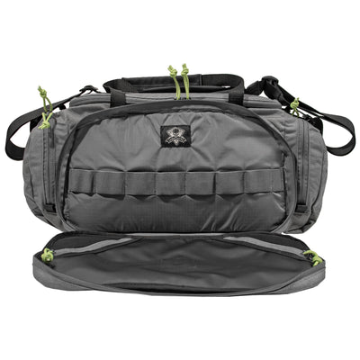 Ggg Range Bag Grey W/lime Green Zip