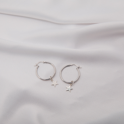 Yasmine Earrings in Silver (Medium)