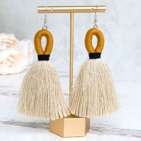 Loop Tassel Earrings