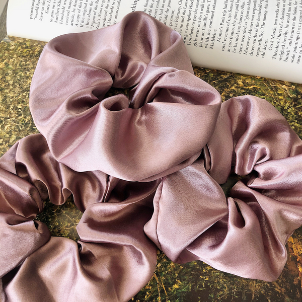 Satin Purple Scrunchie