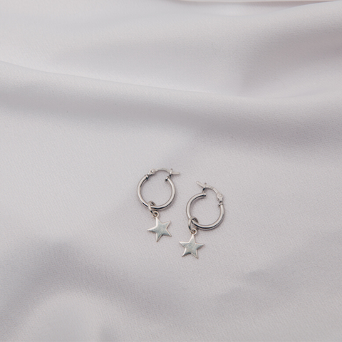 Yasmine Earrings in Silver (Small)