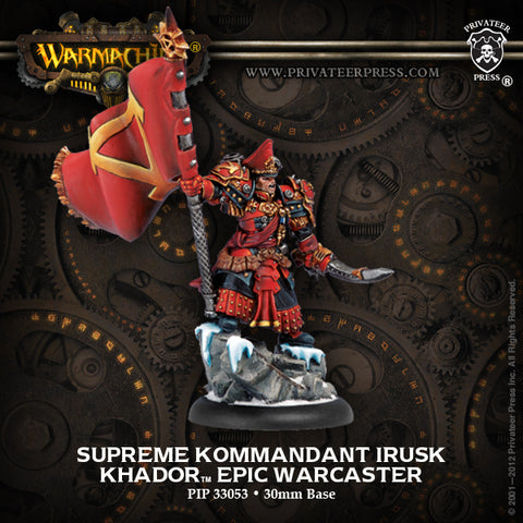 Warmachine: Khador Supreme Kommandant Irusk Epic Warcaster (White Metal)