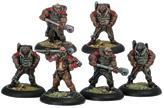 Warmachine: Khador Battle Mechaniks Unit (White Metal)