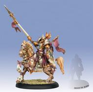 Warmachine: The Protectorate of Menoth Intercessor Kreoss Cavalry Epic Warcaster (White Metal)