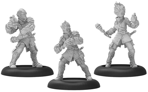 Warmachine: Cygnar Stormsmith Grenadiers Unit (White Metal)