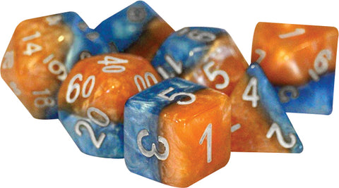 Halfsies Dice - Fire & Dice (7 Polyhedral Dice Set)