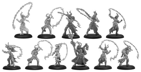 Warmachine: Cryx Satyxis Raiders & Sea Witch Unit & Command Attachment (11) (Resin/White Metal)