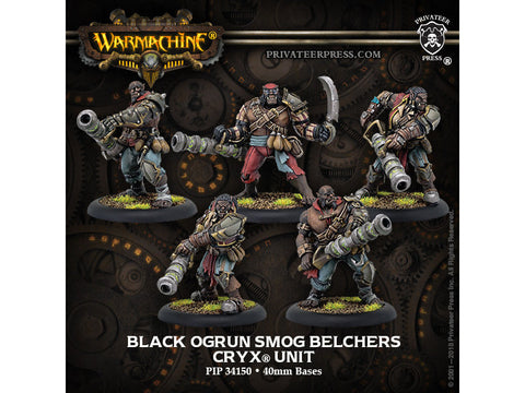 Warmachine: Cryx Black Ogrun Smog Belchers Unit (5) (Resin and White Metal)