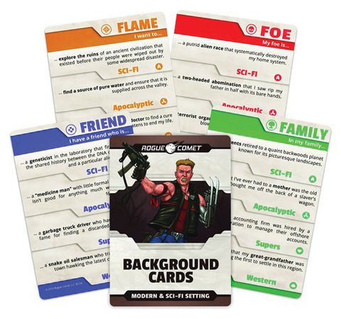 Background Cards: Modern & Sci-Fi Setting