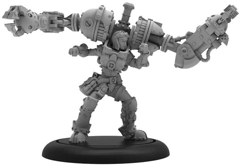 Warmachine: Crucible Guard Aurum Lucanum Athanor Locke Warcaster (Resin and White Metal)