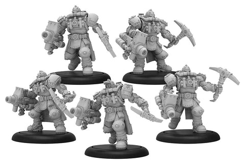 Warmachine: Crucible Guard Storm Troopers Unit (Resin and White Metal)