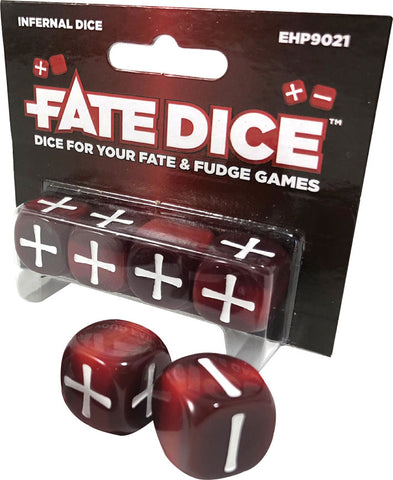 Fate Core RPG: Fate Dice - Infernal (4)