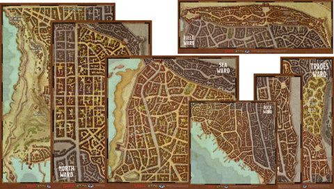 Dungeons and Dragons RPG: Waterdeep - Wards Map Set