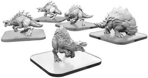 Monsterpocalypse: Terrasaur Raptix and Brontox Units (Resin and White Metal)