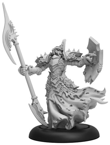 Warmachine: Cryx Bane Knight Officer Command Attachment (Resin and White Metal)