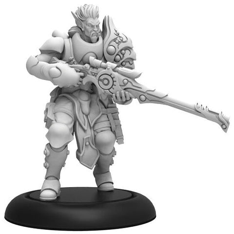 Warmachine: Retribution of Scyrah Garryth Eye of Vengeance Warcaster (White Metal)