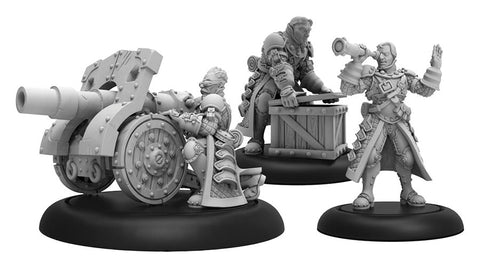 Warmachine: Mercenaries Steelhead Cannon Crew Unit (3) (Resin and White Metal)