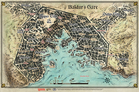Dungeons and Dragons RPG: Baldur`s Gate - Descent into Avernus - Baldur`s Gate Map