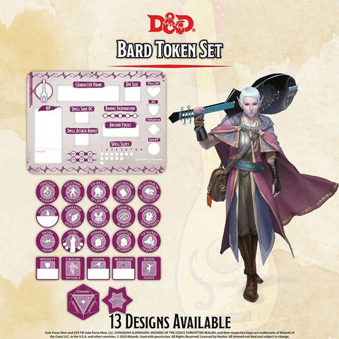 Dungeons and Dragons RPG: Bard Token Set
