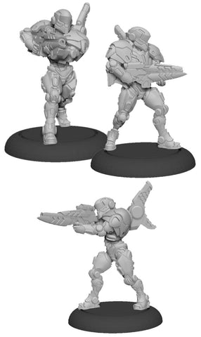 Warcaster: Iron Star Alliance Paladin Enforcers Squad (3) (Metal)